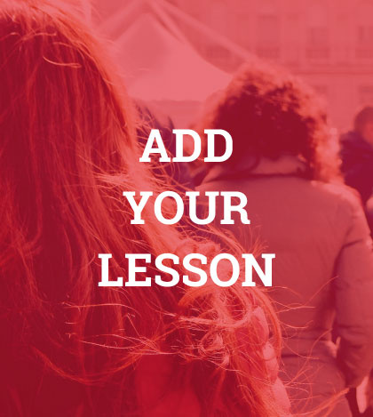 Add Your Lesson - Connect with activists all over the world