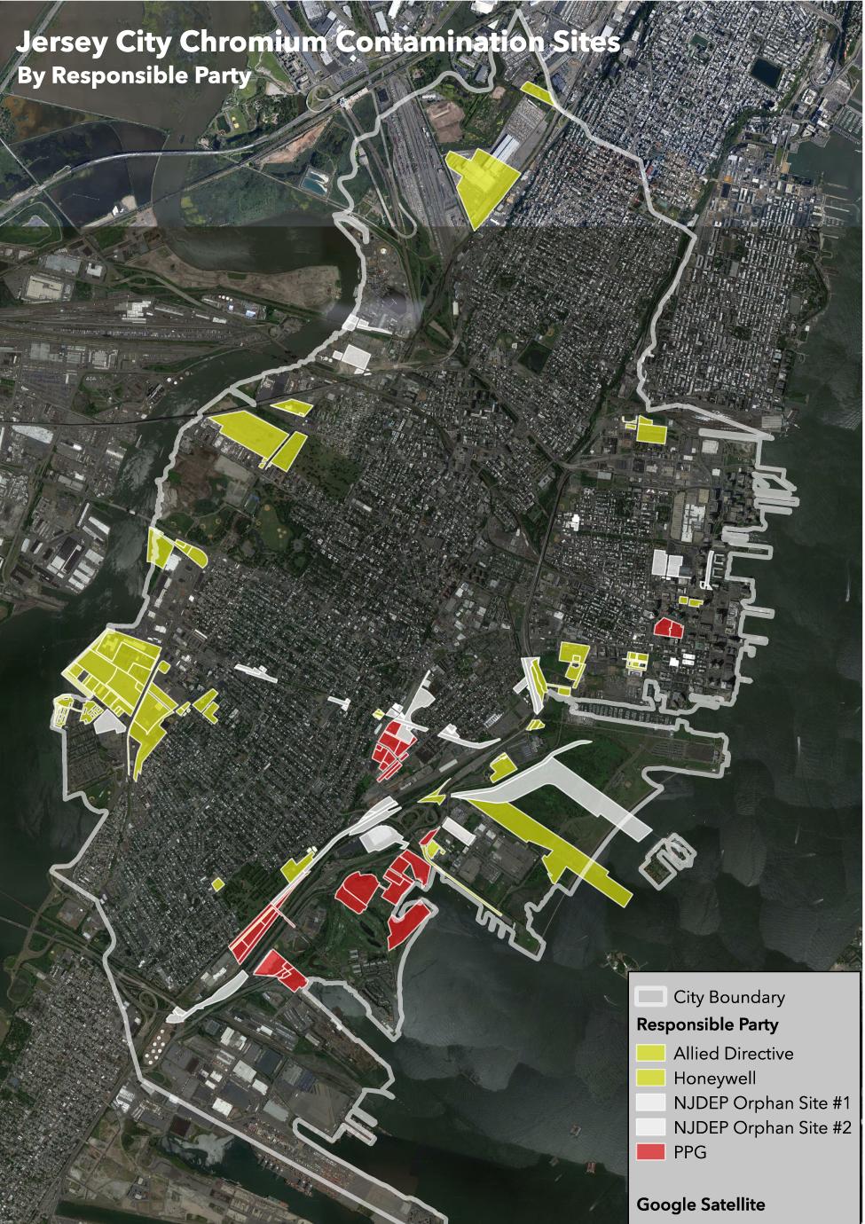 Jersey City Chromium Contamination Sites